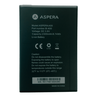 Aspera A50 Battery