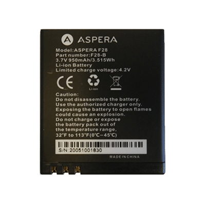 Aspera F28 Battery
