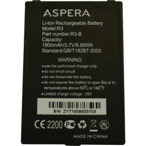 Aspera R3 Battery